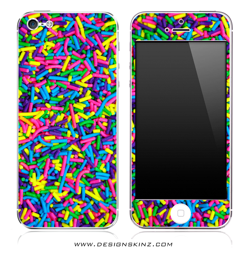 Neon Sprinkles iPhone Skin