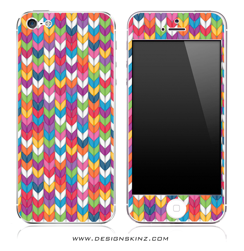 Colorful Knitted Print iPhone Skin