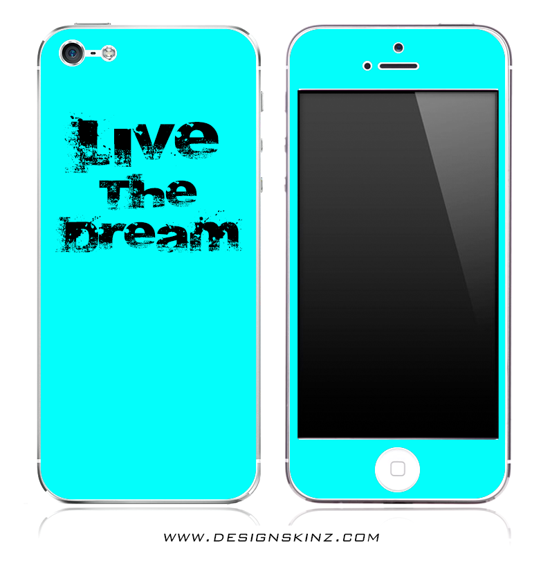 Live The Dream Turquoise iPhone Skin