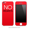 NO REGRETS Red iPhone Skin