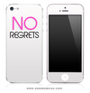 NO REGRETS White & Pink iPhone Skin