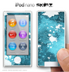 Blue Paint Splatter iPod Nano Skin