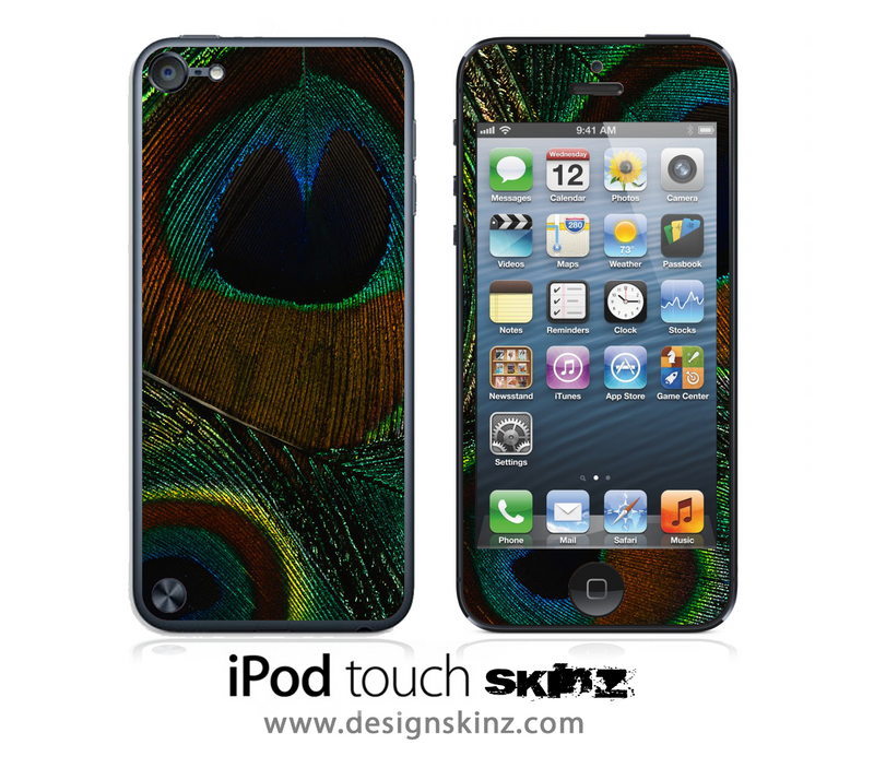 Peacock Closeup 2 iPod Touch 4th or 5th Generation Skin