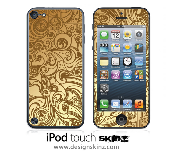 Golden Swirl iPod Touch 4th or 5th Generation Skin