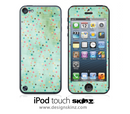 Green Vintage Spotted iPod Touch 4th or 5th Generation Skin