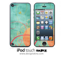 Orange n' Green Vintage iPod Touch 4th or 5th Generation Skin