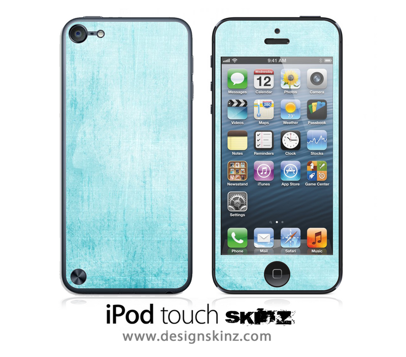 Blue Vintage iPod Touch 4th or 5th Generation Skin