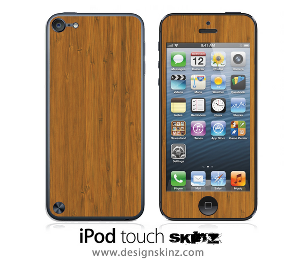 Bamboo iPod Touch 4th or 5th Generation Skin