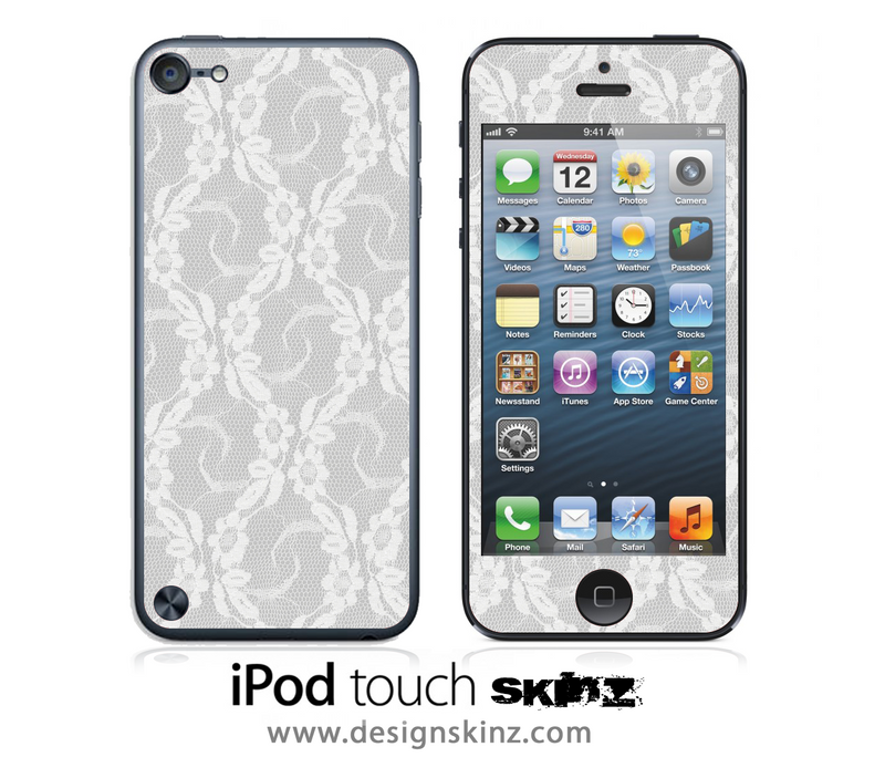 White Lace iPod Touch 4th or 5th Generation Skin
