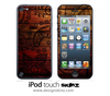 Tattooed Wood iPod Touch 4th or 5th Generation Skin