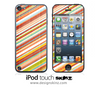 Vintage Slanted Stripes iPod Touch 4th or 5th Generation Skin
