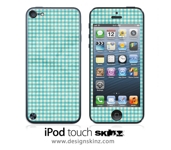 Vintage Green Plaid iPod Touch 4th or 5th Generation Skin