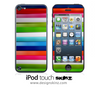 Bright Stripes iPod Touch 4th or 5th Generation Skin