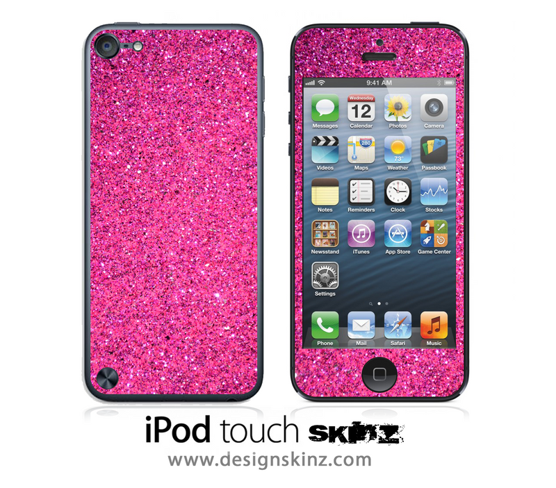 Pink Glitter iPod Touch 4th or 5th Generation Skin