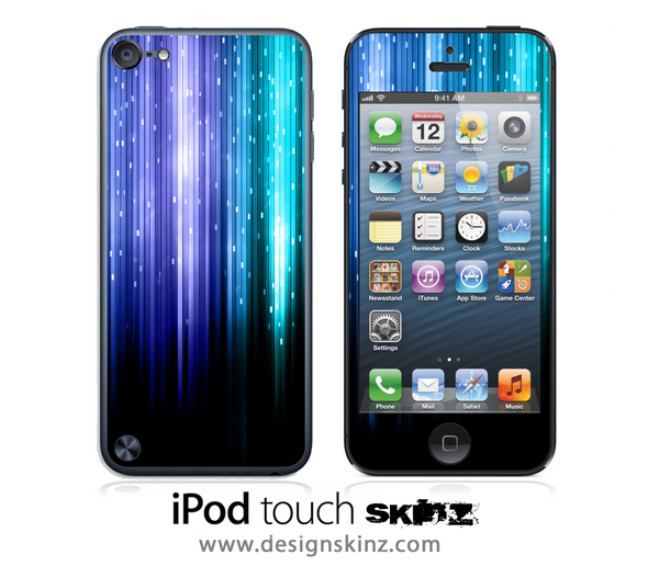 Neon Rain iPod Touch 4th or 5th Generation Skin