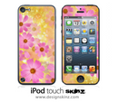 Pink FLowers iPod Touch 4th or 5th Generation Skin