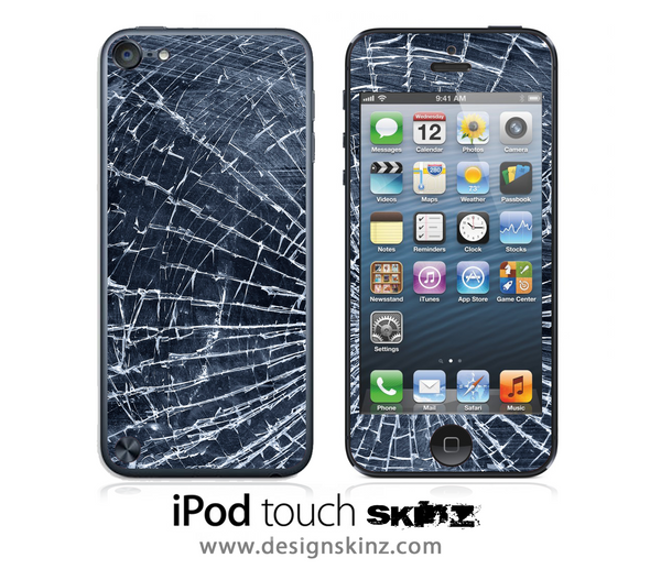 Shattered Glass iPod Touch 4th or 5th Generation Skin