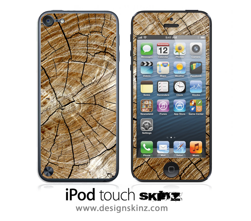 Cracked Wood iPod Touch 4th or 5th Generation Skin