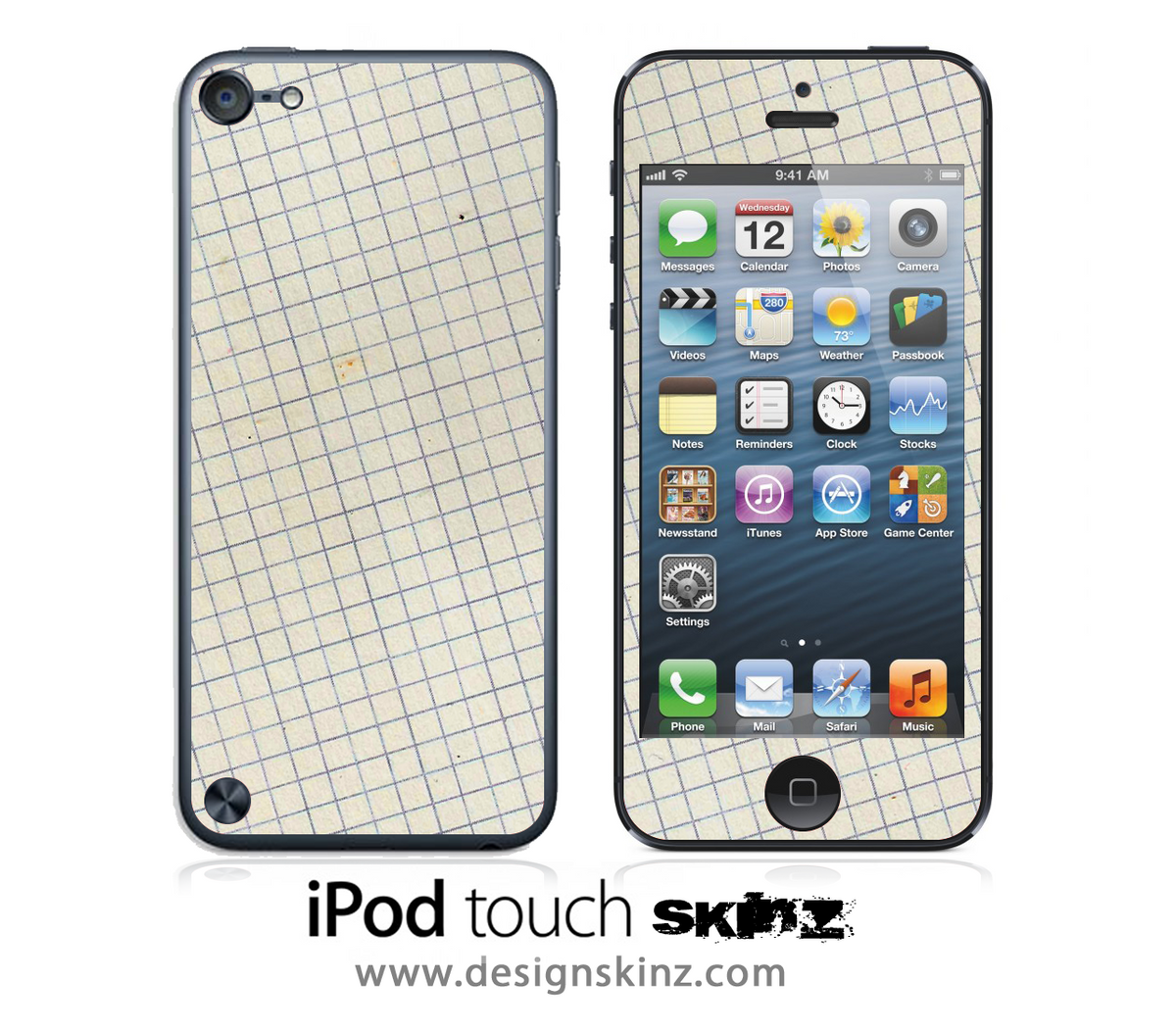 graph paper ipod touch 4th or 5th generation skin designskinz