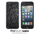 Blacken Lace iPod Touch 4th or 5th Generation Skin