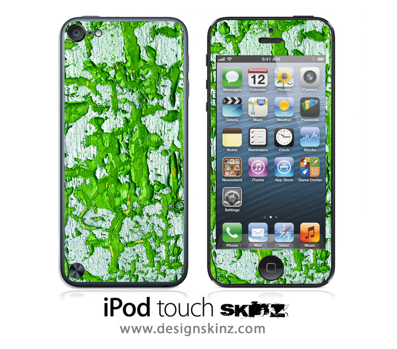 Green Aged Wood iPod Touch 4th or 5th Generation Skin