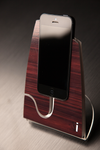 Dark Quartered Wood iStand for the iPhone 4/4s or 5