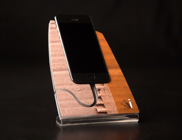 Torn Cardboard iStand for the iPhone 4/4s or 5