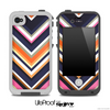 Navy Chevron V5 Fun Color Pattern Skin for the iPhone 5 or 4/4s LifeProof Case