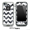 Traditional Snow Camo with White Chevron Pattern Skin for the iPhone 5 or 4/4s LifeProof Case
