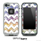 Colorful Zebra with White Chevron Pattern Skin for the iPhone 5 or 4/4s LifeProof Case