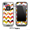 Wild Color Swirls and White Chevron Pattern Skin for the iPhone 5 or 4/4s LifeProof Case