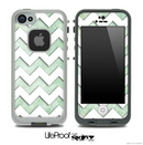 Subtle Vintage Green and White Chevron Pattern Skin for the iPhone 5 or 4/4s LifeProof Case