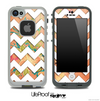 Vintage Orange and White Chevron Pattern Skin for the iPhone 5 or 4/4s LifeProof Case