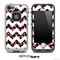 Tiny Pink Paws with White Chevron Pattern Skin for the iPhone 5 or 4/4s LifeProof Case