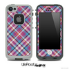 Seamless Pink Plaid Skin for the iPhone 5 or 4/4s LifeProof Case