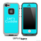 Turquoise Lets Cuddle Skin for the iPhone 5 or 4/4s LifeProof Case
