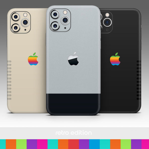 Original Retro Edition Silver - Skin-Kit for the Apple iPhone 11, 11 Pro or 11 Pro Max