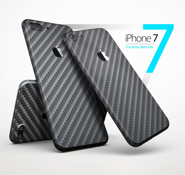 NEW! Textured Carbon Fiber - 4-Piece Skin Kit for the iPhone 7 or 7 Plus