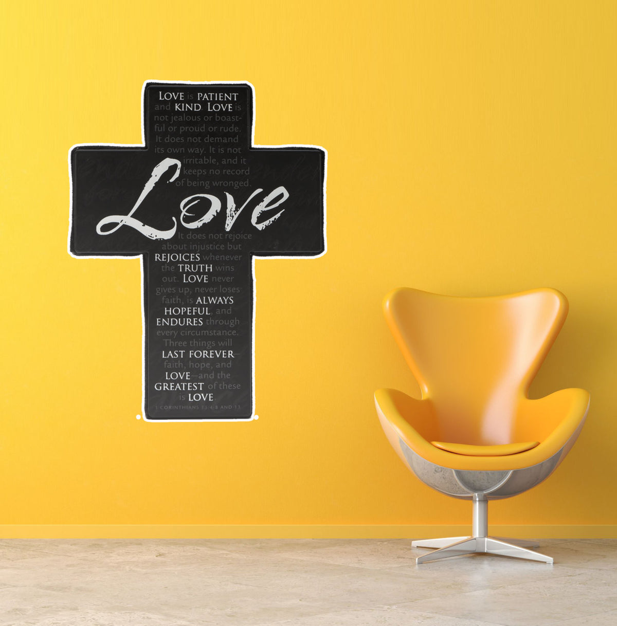 Vector Christian Cross Love is Patient Bible Verse EASY-TO-APPLY ...