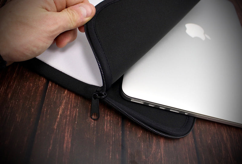 The Grungy Concrete Textured Surface Ink-Fuzed NeoPrene MacBook Laptop Sleeve