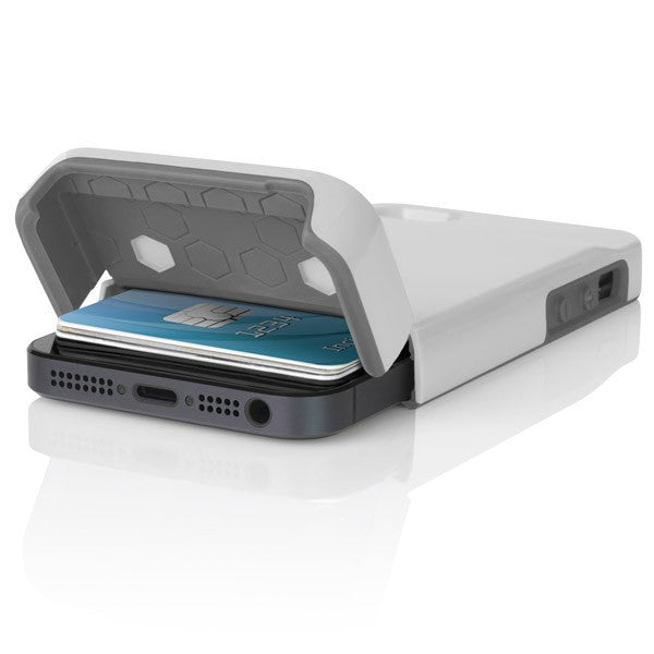 buy popular 603d2 82e19 The White / Gray Incipio STASHBACK™ Dockable Credit Card Case for iPhone  5-5s
