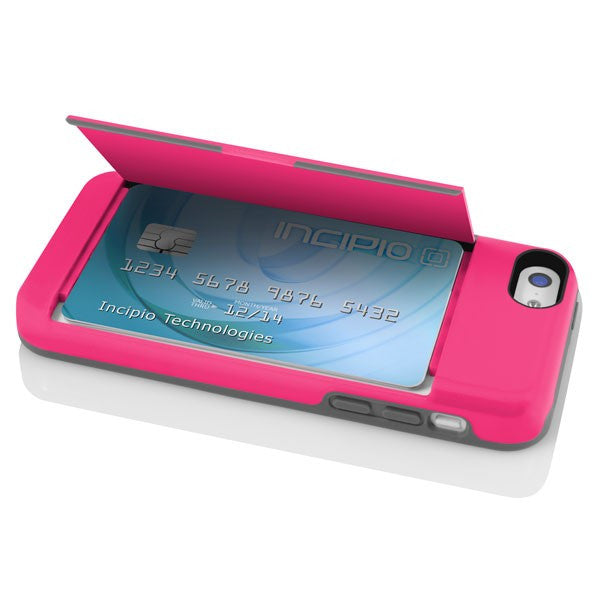 online retailer 63024 2b81f The Pink STOWAWAY™ Credit Card Case with Integrated Stand for iPhone 5c
