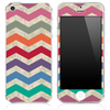 Vintage Colorful Chevron Pattern with Digital Camo Skin for the iPhone 3, 4/4s or 5