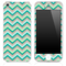 Subtle Greens Chevron Pattern Skin for the iPhone 3, 4/4s or 5