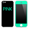 Trendy Green and Black - Pink - V2 Skin for the iPhone 3gs, 4/4s, 5, 5s or 5c