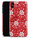 the Red WAtercolor Floral Pedals - iPhone X Clipit Case