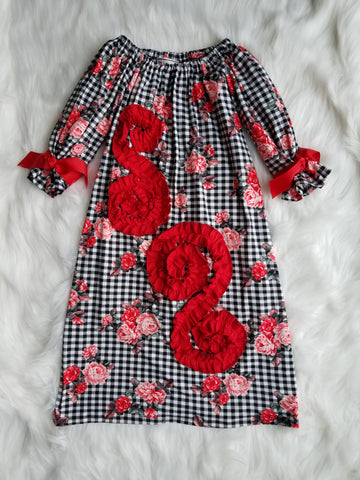 Josephine Dress in Black and Red Checkered