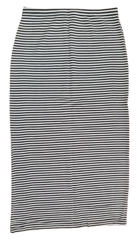 STRAIGHT LADIES SKIRT IN BLACK AND WHITE STRIPE