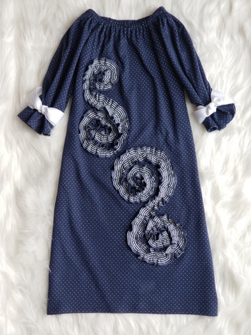 Josephine Dress in Navy
