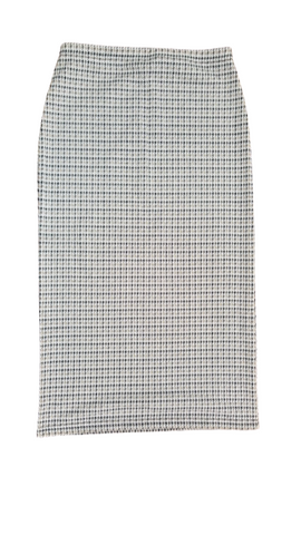 STRAIGHT LADIES SKIRT IN HOUNDS TOOTH